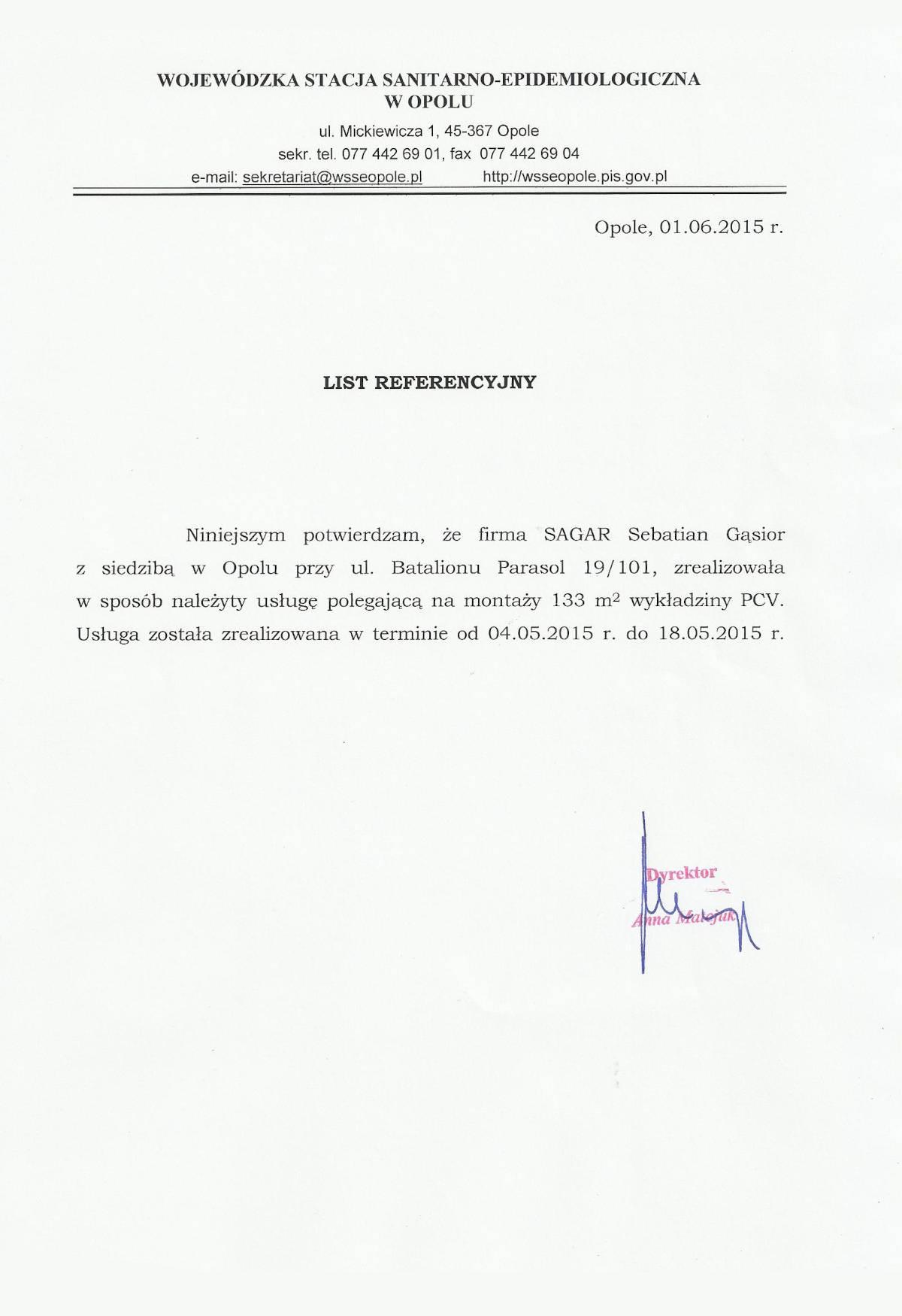 Referencje Sagar